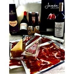 Pack Jamón Ibérico y vino