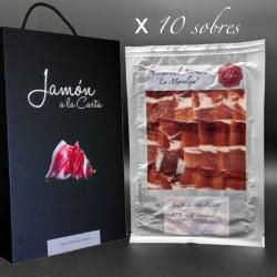 Pack 10 Sobres de Jamón de Cebo 50% Ibérico Selección Especial Jamsa